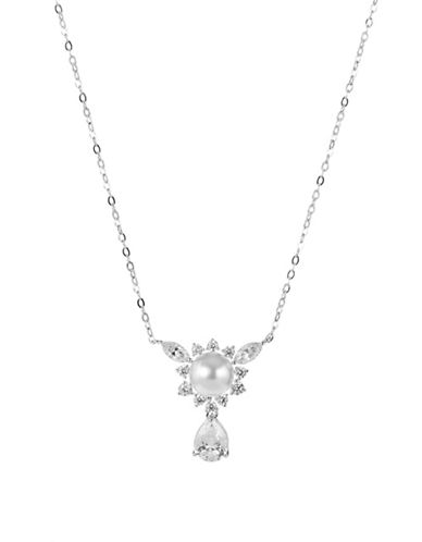 Nadri Heaven Small Frontal Necklace-PEARL-One Size