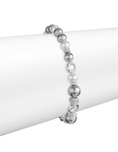 Nadri Two-Tone Faux Pearl Bracelet-SILVER-One Size