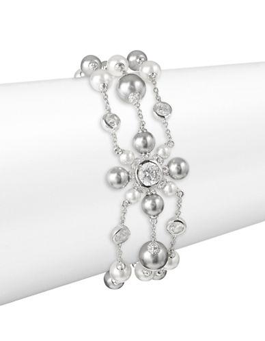 Nadri Triple Strand Chain Bracelet-SILVER-One Size