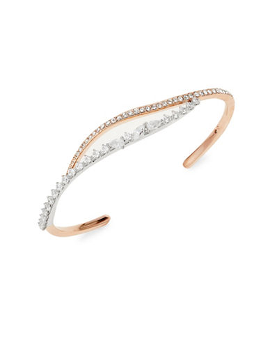 Nadri Two-Tone Open Cuff Bracelet-ROSE GOLD-One Size