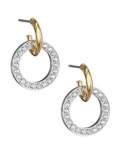 Nadri Pave Door Knocker Earrings-GOLD-One Size