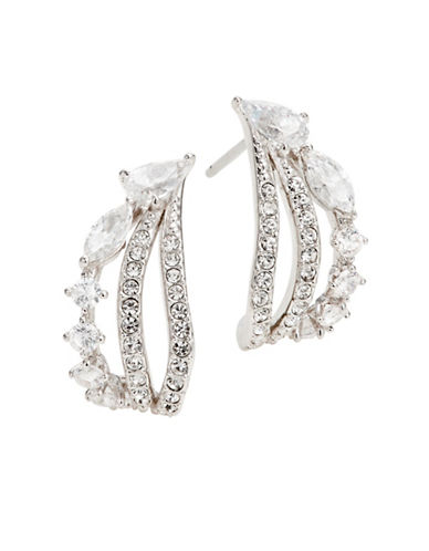 Nadri Small Hoop Earrings-RHODIUM-One Size