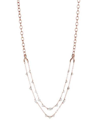 Nadri Layered Choker Necklace-ROSE GOLD-One Size