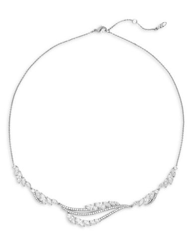 Nadri Marquise Frontal Necklace-RHODIUM-One Size