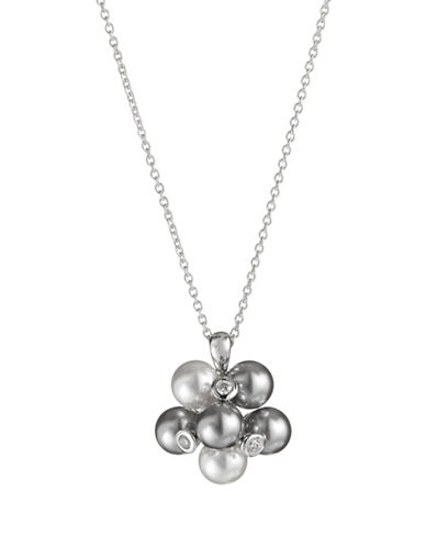 Nadri Cluster Pendant Necklace-SILVER-One Size