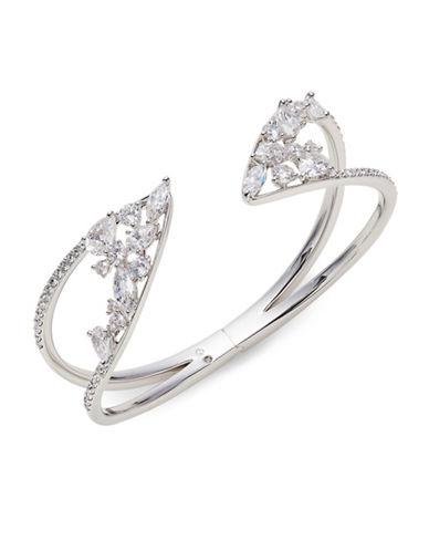 Nadri Calla Wide Hinge Bracelet-SILVER-One Size