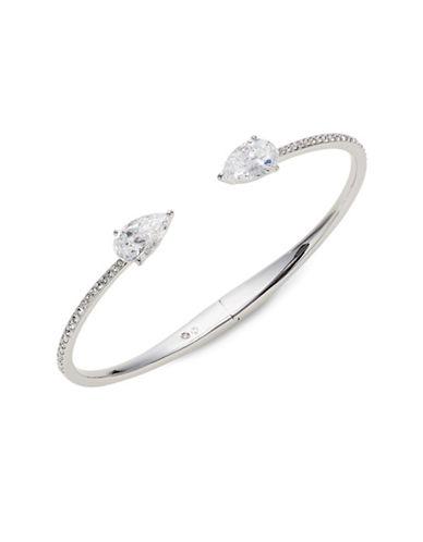 Nadri Calla Pave Hinge Bracelet-SILVER-One Size