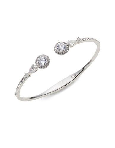 Nadri Pave Hinge Bracelet-SILVER-One Size