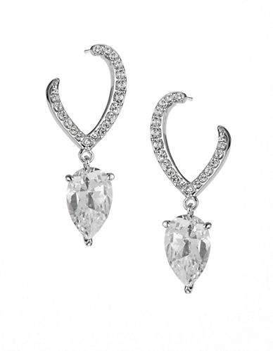 Nadri Calla Front-to-Back Earrings-SILVER-One Size