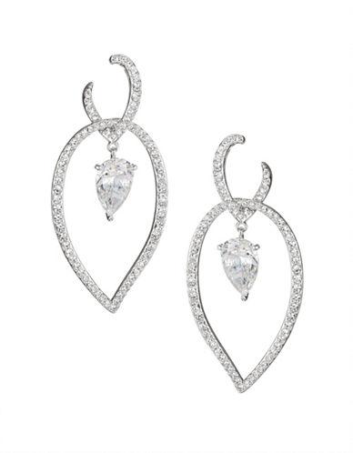 Nadri Calla Dangling Pendant Earrings-SILVER-One Size