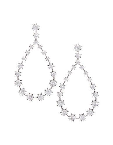 Nadri Starry Drop Earrings-SILVER-One Size