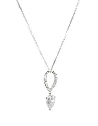 Nadri Calla Small Pendant Necklace-SILVER-One Size