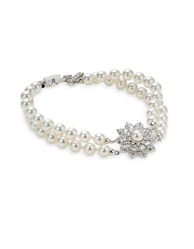 Nadri Bow Crystal Multi-Strand Bracelet-SILVER-One Size