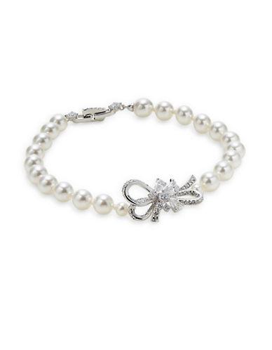 Nadri Bow Crystal Bracelet-SILVER-One Size