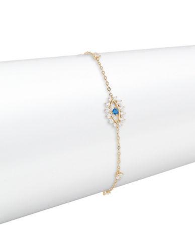 Nadri Crystal Fortune Evil Eye Bracelet-GOLD-One Size