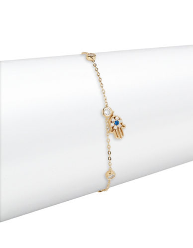 Nadri Fortune Hamsa Bracelet-GOLD-One Size