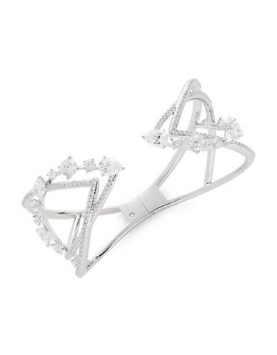 Nadri Crystal Open Cuff Bracelet-SILVER-One Size