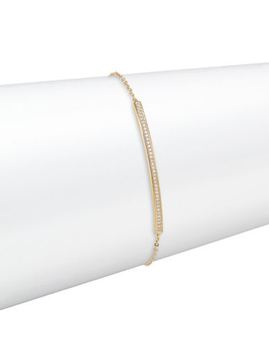 Nadri Railed Crystal Bar Bracelet-GOLD-One Size