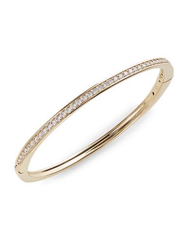 Nadri Railed Crystal Hinged Bracelet-GOLD-One Size