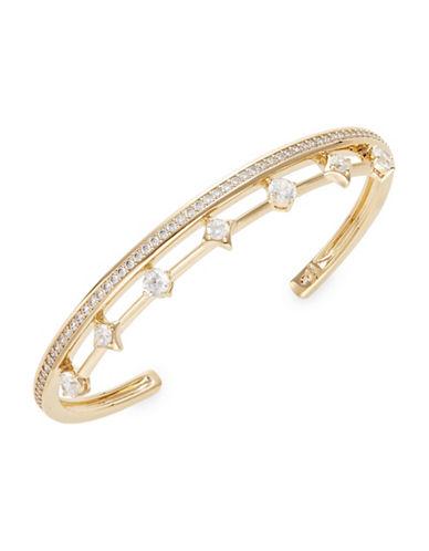 Nadri Crystal Open Cuff Bracelet-GOLD-One Size