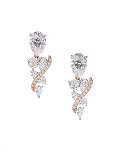Nadri Crystal Front-Back Earrings-ROSE GOLD-One Size