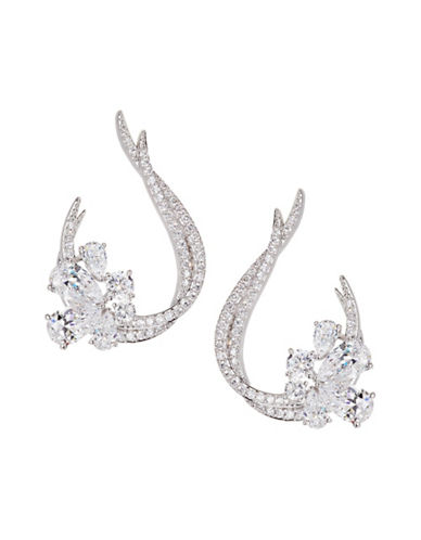 Nadri Crystal Front-to-Back Earrings-SILVER-One Size