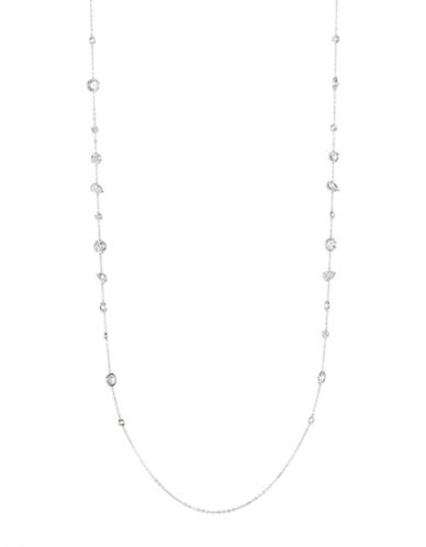 Nadri Crystal Single Strand Necklace-SILVER-One Size