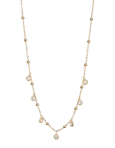 Nadri Crystal Shaker Choker Necklace-GOLD-One Size