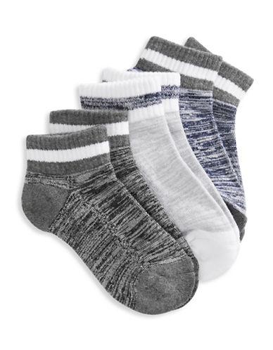 Jack & Jill 3 Pack Fashion Ankle Socks-ASSORTED-Small/Medium