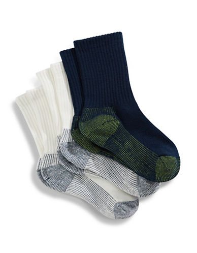 Jack & Jill 3 Pack Crew Sport Socks-ASSORTED-Small/Medium