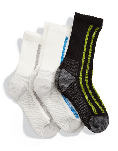Jack & Jill 3 Pack Sport Crew Socks-ASSORTED-Small/Medium