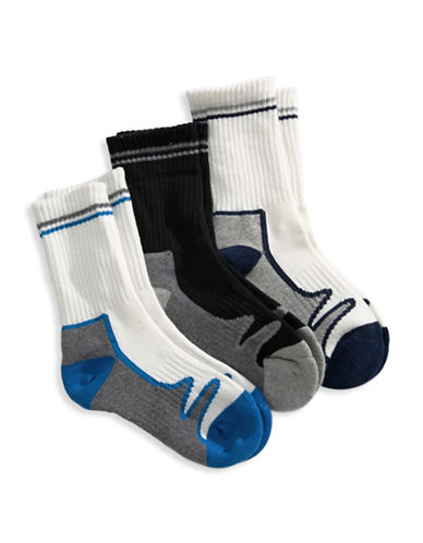 Jack & Jill 3 Pack Crew Sport Socks-ASSORTED-Medium/Large