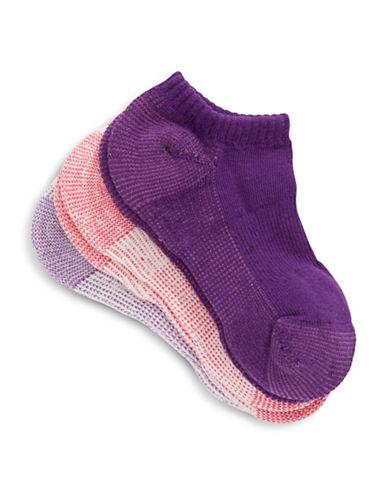 Jack & Jill 3 Pack Ankle Sport Socks-ASSORTED-Small/Medium