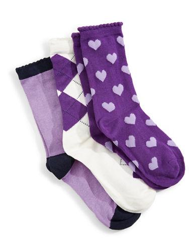 Jack & Jill 3 Pack Fashion Dress Socks-ASSORTED-Small/Medium