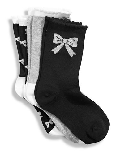 Jack & Jill 3 Pack Fashion Dress Socks-ASSORTED-Small/Medium