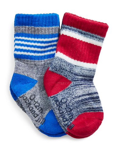 Jack & Jill 2 Pack Striped Space Dye Socks-ASSORTED-0-12 Months