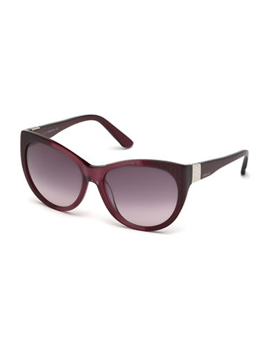 Swarovski Cat-Eye Crystal Sunglasses-BORDEAUX-One Size