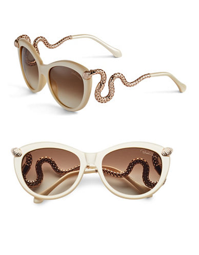 Roberto Cavalli RC889S 56mm Cat Eye Sunglasses-IVORY-One Size