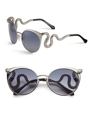 Roberto Cavalli RC890S 57mm Cat-Eye Sunglasses-SHINY PALLIDIUM-One Size