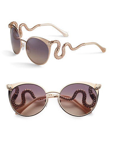 Roberto Cavalli RC890S 57mm Cat-Eye Sunglasses-SHINY ROSE GOLD, SHINY PEARL IVORY-One Size
