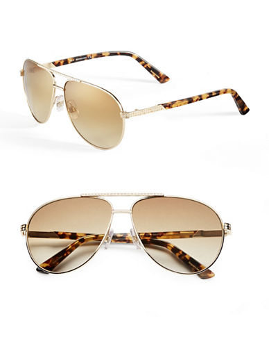 Swarovski SK0078 59mm Aviator Sunglasses-GOLD/BRONZE-One Size