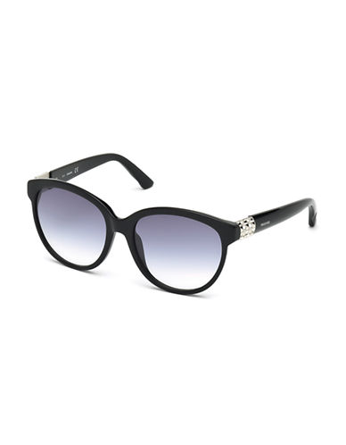 Swarovski 57mm Round Sunglasses-PURPLE/BLACK-One Size