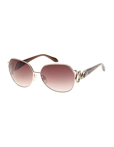 Roberto Cavalli 61mm Square Sunglasses-GOLD/BROWN-One Size