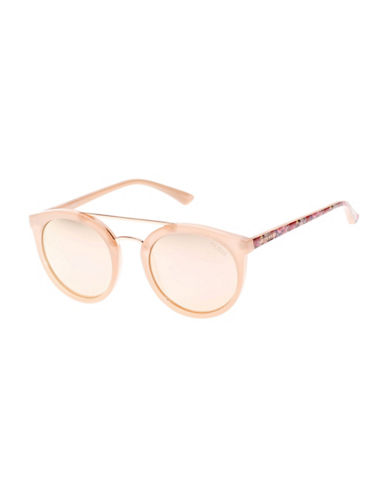 Guess Decorative 52mm Round Sunglasses-PINK-One Size