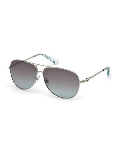 Swarovski 61mm Aviator Sunglasses-SILVER-One Size