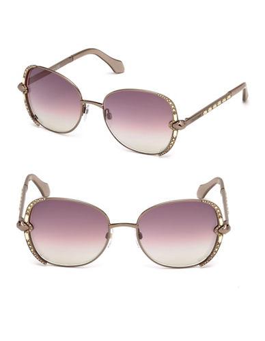 Roberto Cavalli 56mm Round Sunglasses-BROWN-One Size