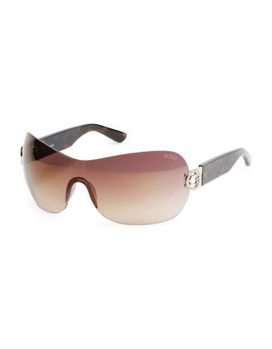 Guess Havana Metal Wrap Sunglasses-HAVANA-One Size