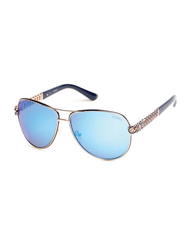 Guess Rose Goldtone 59mm Aviator Sunglasses-ROSE GOLD-One Size