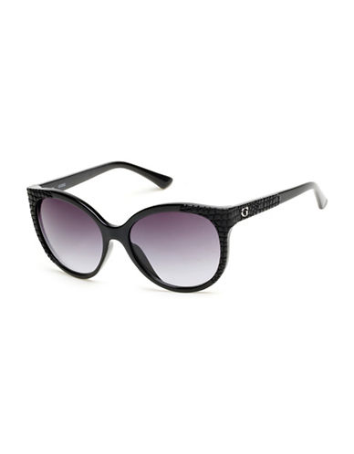 Guess 57mm Cat-Eye Sunglasses-BLACK-One Size