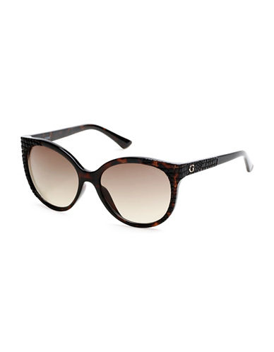Guess Havana 57mm Cat-Eye Sunglasses-HAVANA-One Size
